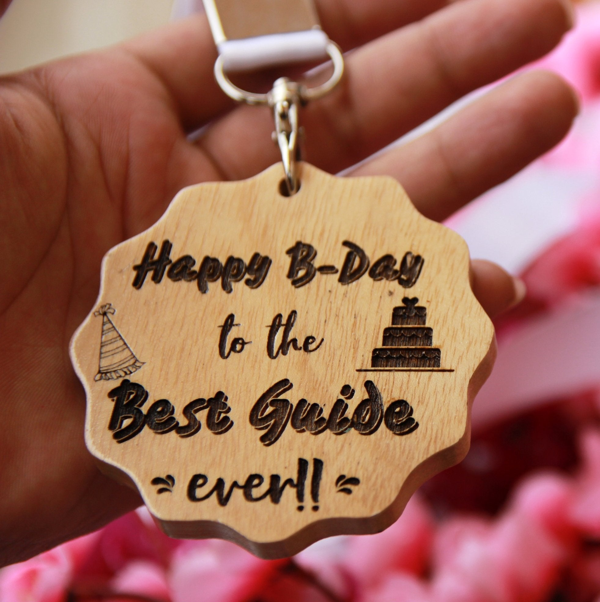 Customized Wooden Birthday Medal For Teacher. This Engraved Medal Makes The Best Birthday Gifts For Teachers. Buy More Personalized Gifts For Teachers Online From The Woodgeek Store.