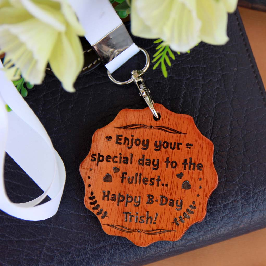 Custom Medal Engraved With Happy Birthday. This is the best birthday gifts for wife and birthday gift for girlfriend. These wooden medals make unique birthday gifts for her and birthday gifts for women.