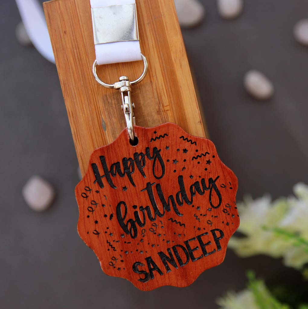 This Custom Medal Engraved With A Birthday Message Is The Best Birthday Gift For Brother. Looking for gifts for brother? This Birthday Greetings Engraved On This Wooden Medal Is A Great Personalized Gift.