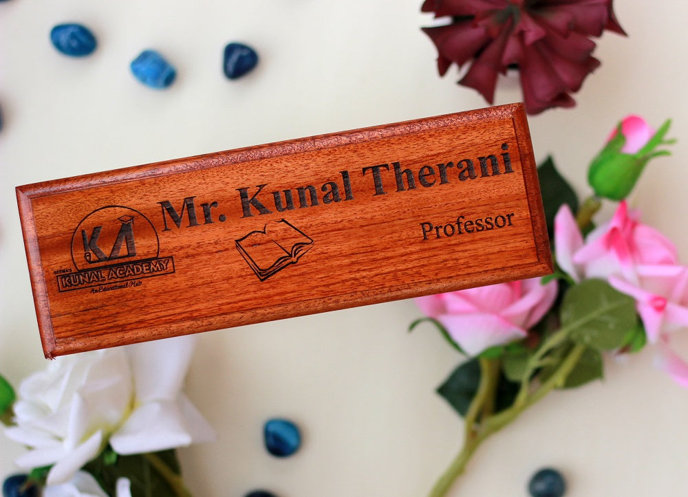 Personalized Nameplates for Teachers & Professors - Unusual Teacher Gifts - Best Teacher Appreciation Gifts - Good Presents for Teachers - Woodgeek Store