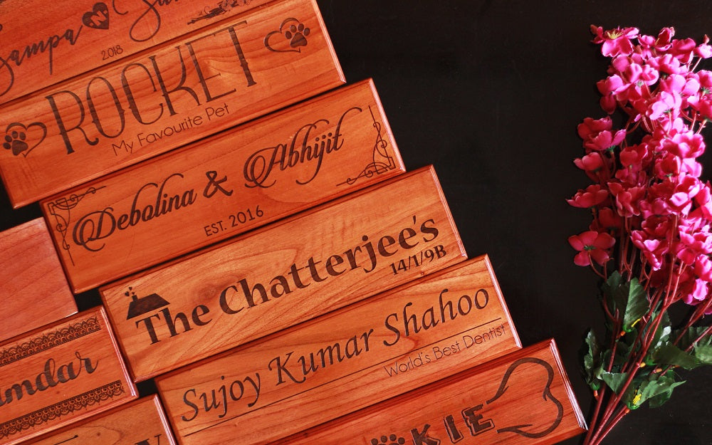 Personalized Desk Nameplate - Wooden Nameplates for Doors by Woodgeek Store