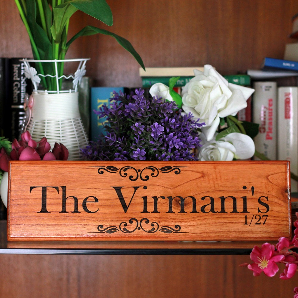 Family Name Signs, Wooden Name Signs & Door Nameplates by Woodgeek Store