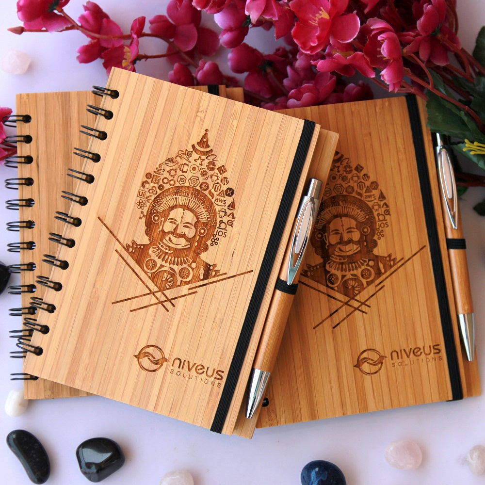Wooden Notebook As Corporate Gifts - Best Business Gifts For Clients - Corporate Gifts for Employees