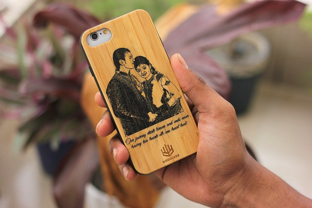 Wooden Phonecase- Wedding Gifts - Anniversary Gifts - Wood Anniversary - Personalized iPhone case -
