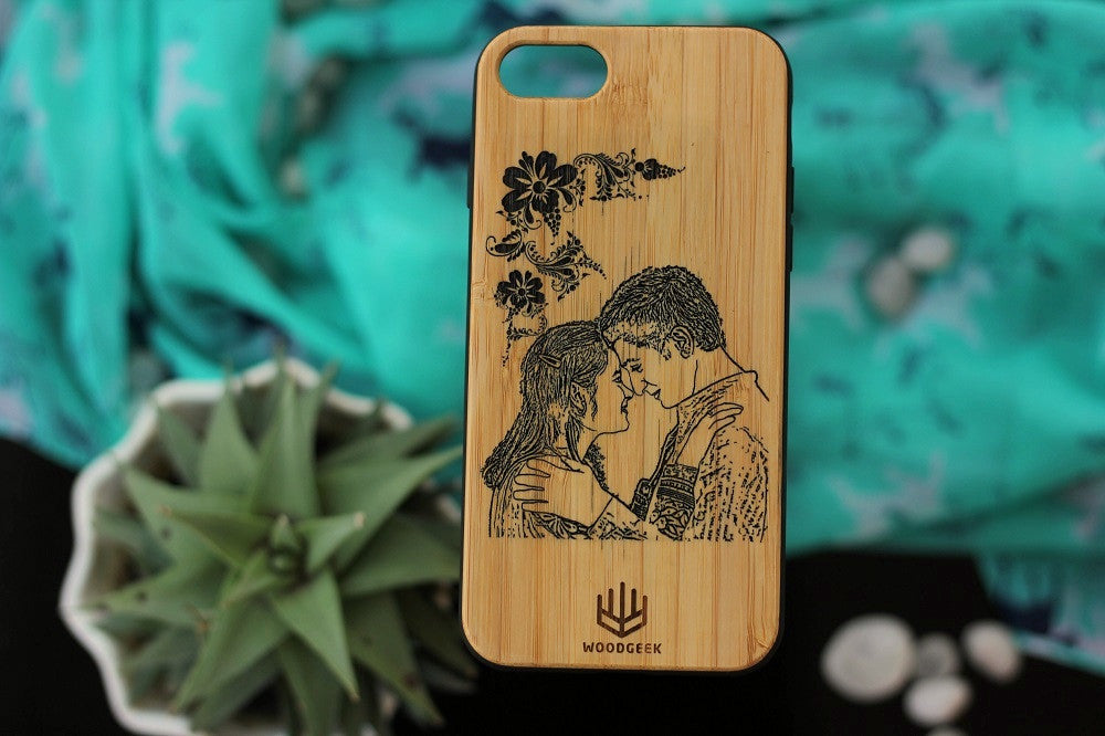 Wooden Phonecase- Wedding Gifts - Anniversary Gifts - Wood Anniversary - Personalized iPhone case - Woodgeek Store - 1