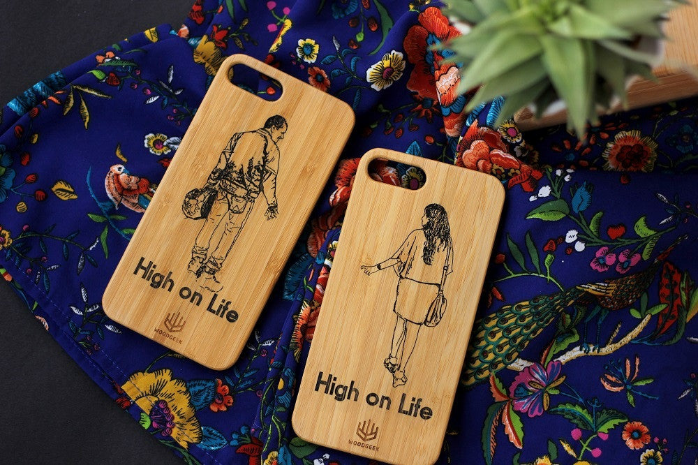 Wooden Phonecase- Wedding Gifts - Anniversary Gifts - Wood Anniversary - Personalized iPhone case - Woodgeek Store