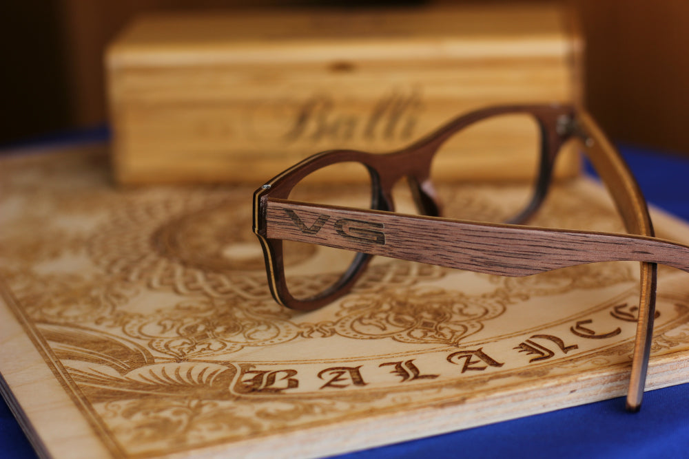Wooden Prescription Glasses with Name Engraving - Woodgeek Store