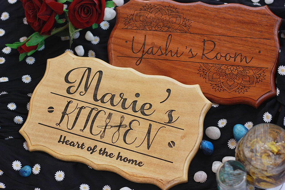 Wooden Name Signs for Bedroom - Custom Kitchen Signs by Woodgeek Store