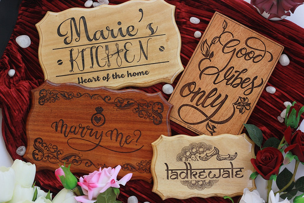 Custom Rustic Wood Signs for Home - Wood Name Signs & Family Signs carved on wood by Woodgeek Store