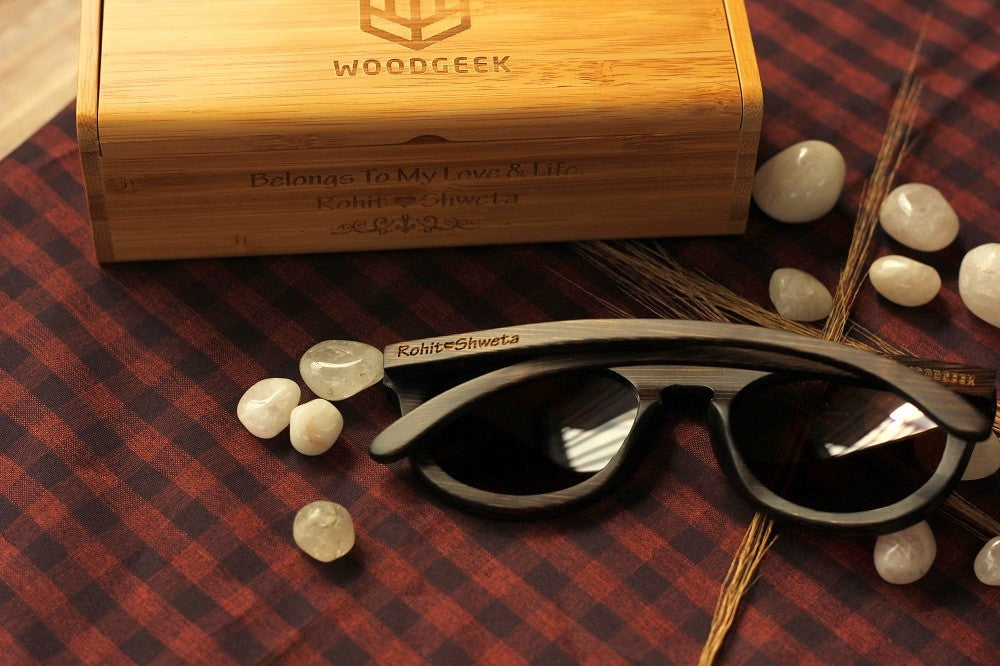 Wooden Sunglasses -Wedding Gifts - Anniversary Gifts - Wood Anniversary - Personalized Sunglasses - Woodgeek Store