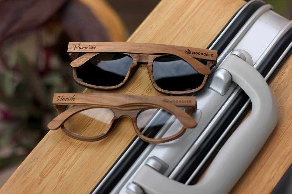 Wooden Sunglasses -Wedding Gifts - Anniversary Gifts - Wood Anniversary - Personalized Sunglasses - Woodgeek Store - 4
