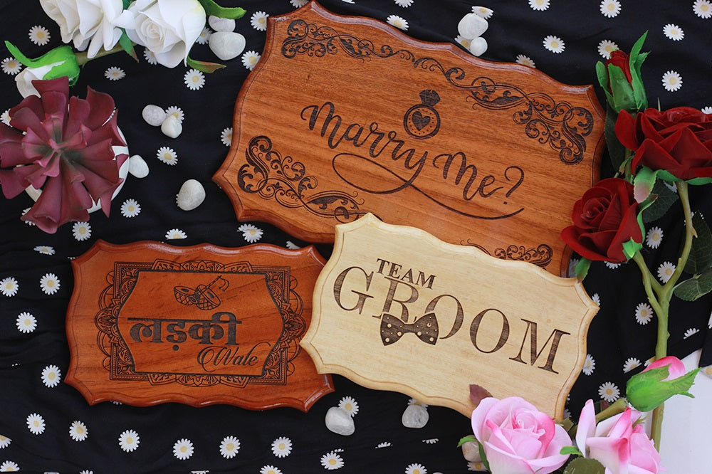 Personalized Wedding Signs You And Your Guests Will Love by Woodgeek Store