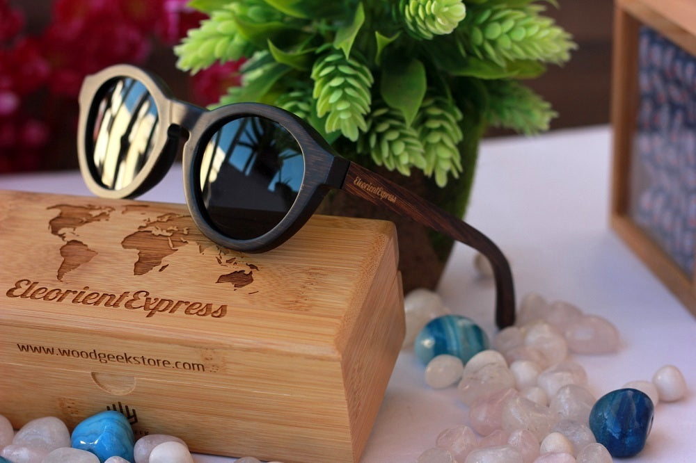 The Hipster Round Wooden Sunglasses - wooden sunglasses - bamboo sunglasses - best wooden sunglasses - buy wooden sunglasses - sagittarius gifts - present ideas - birthday gifts for friends - best friend birthday gifts - woodgeekstore