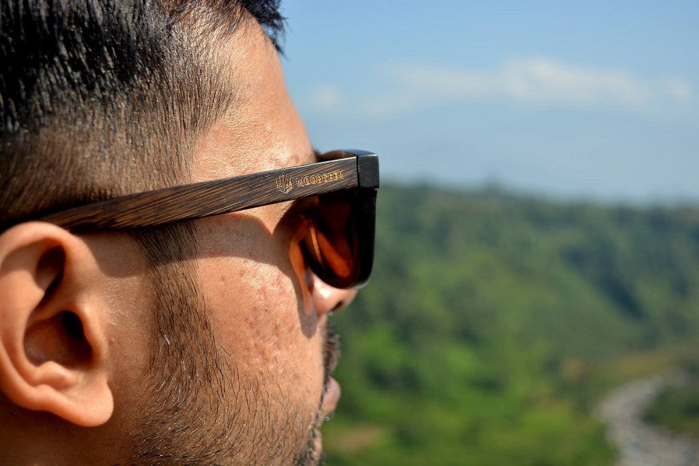 Wooden Polarized Sunglasses That Can Be Customized With Text - Woodgeek Store