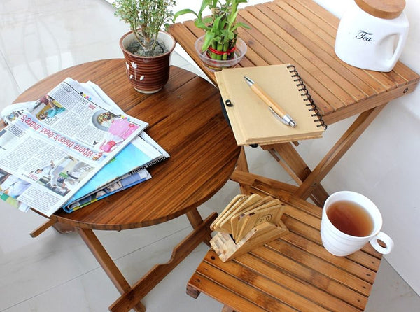 Wooden bamboo tables from Woodgeek Store