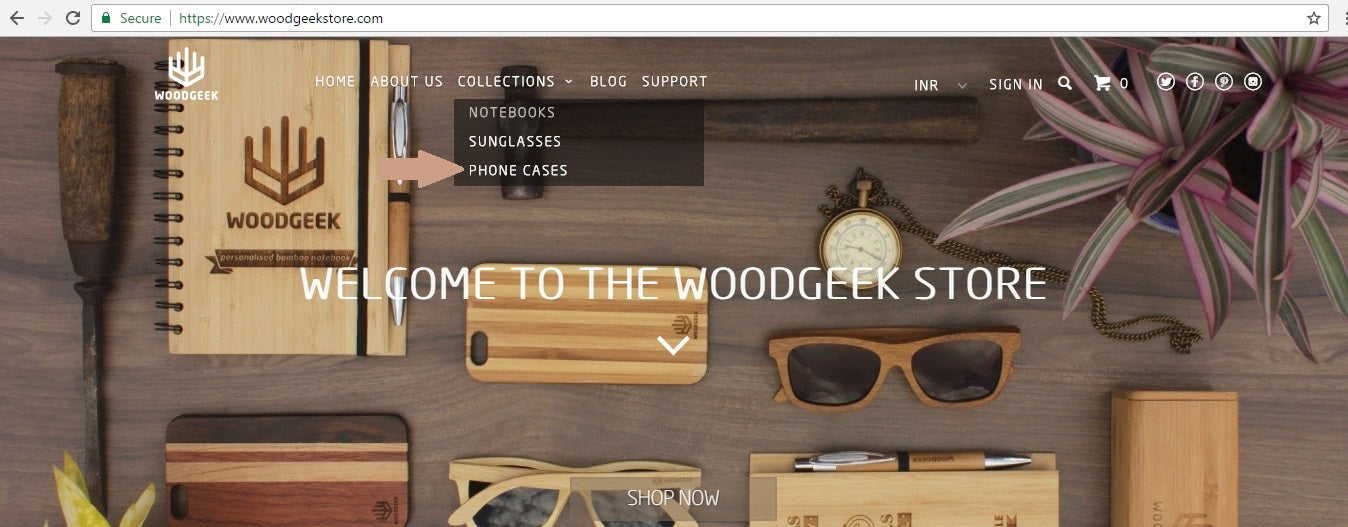 Woodgeek Store Homepage