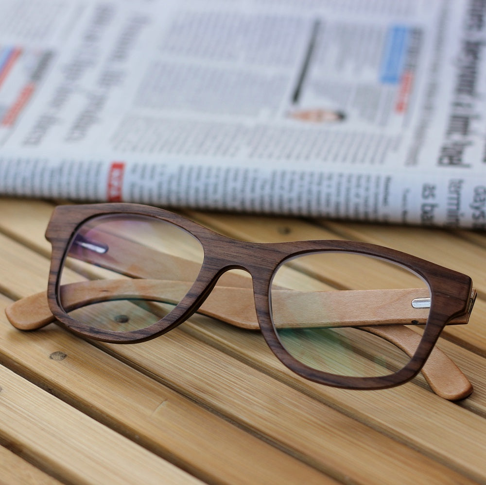 Wooden spectacle frames from Woodgeek Store