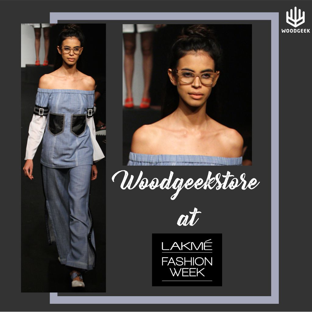 Models wearing Woodgeek Store glasses at Lakme Fashion Week