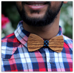 Zebrawood Bow Tie - Brown Bow Tie - Wooden Bow Tie - Hipster Bow Tie - Woodgeek Store