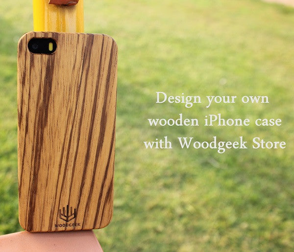 Design your own wooden iPhone case with Woodgeek Store