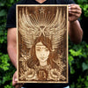 Carved Wooden Posters