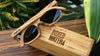 customised wooden sunglasses and bamboo box for corporate gift for boxed water is better