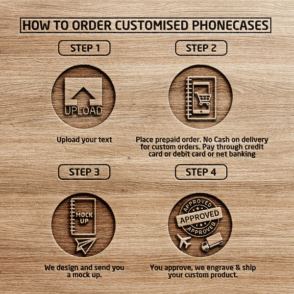 How to order customized wooden phone case - Woodgeek Store
