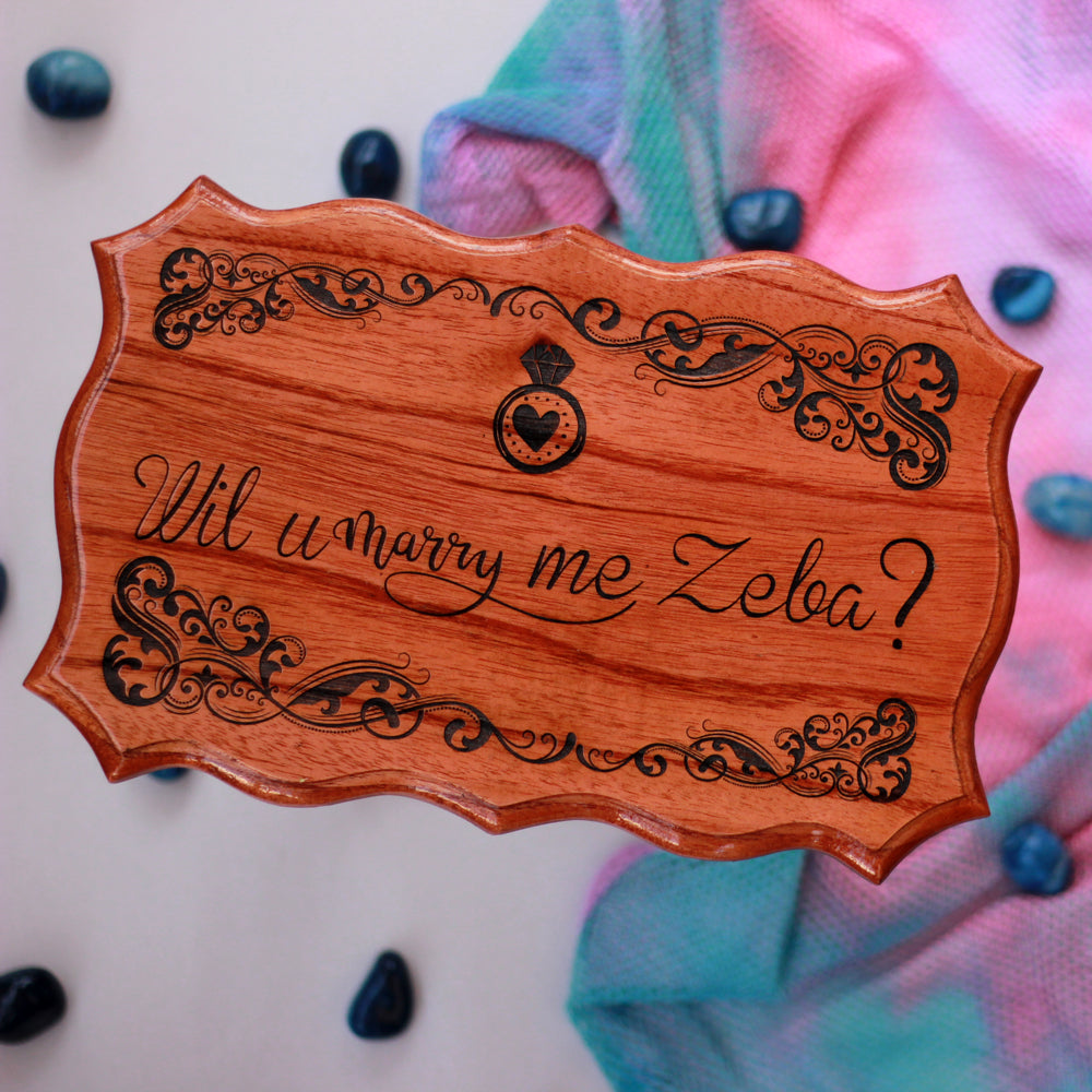 Customised Marry Me Wood Carved Sign - Most Romantic Gifts - Top Valentine's Day Gifts - Personalized Signs - Romantic Gifts - I Love You Gifts - Best Wooden Gifts - Unique Personalized Gift Ideas - The Wood Shop - Woodgeek - Woodgeekstore