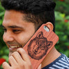 persoanlised wooden phone case carved your your photo from woodgeek