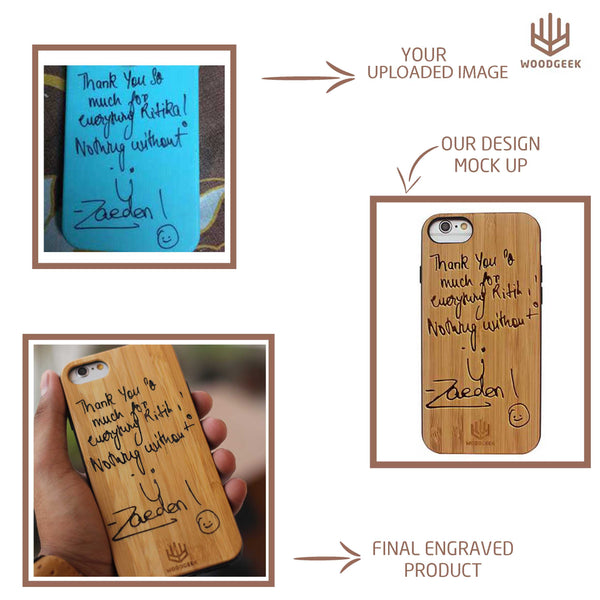 Custom Engrave Your iPhone Case - Wooden Phone Case - Woodgeek Store