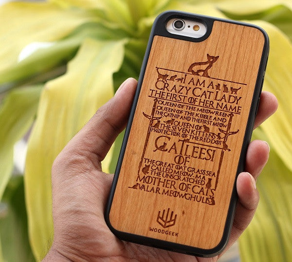 Customized wooden phone case with Game of Thrones quote - Woodgeek Store