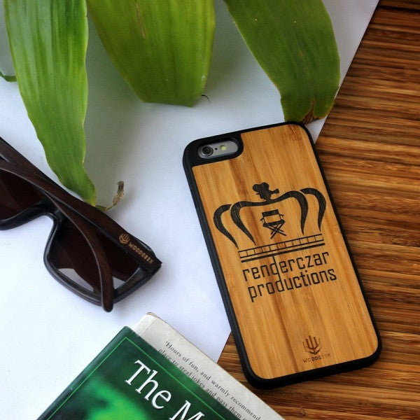 Personalised wooden iPhone case with company name & logo - Woodgeek Store