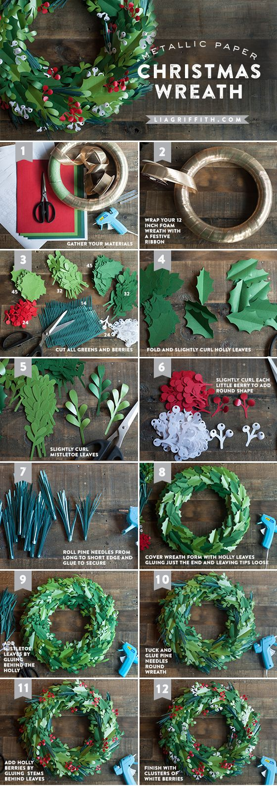 Christmas Wreath - How To Make A Wreath - Step By Step - Floral Wreath Tutorial - Woodgeek - Woodgeekstore