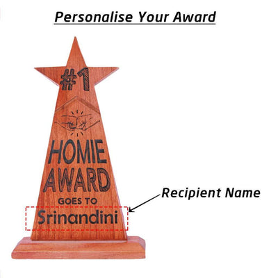 Custom #1 Homie Trophy & Award Engraved With Name