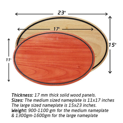Measurements - Hanging Signs - Wood Carved Signs - Woodgeek Store