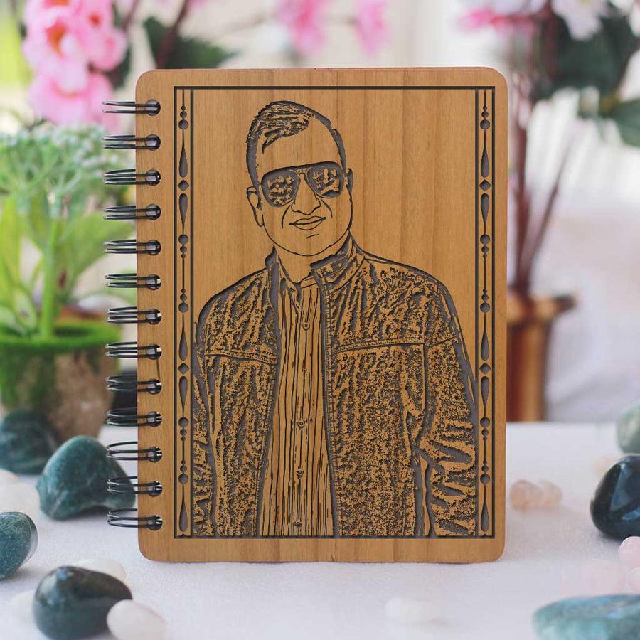 Best Daddy Photo Diary - Personalised Wooden Notebook