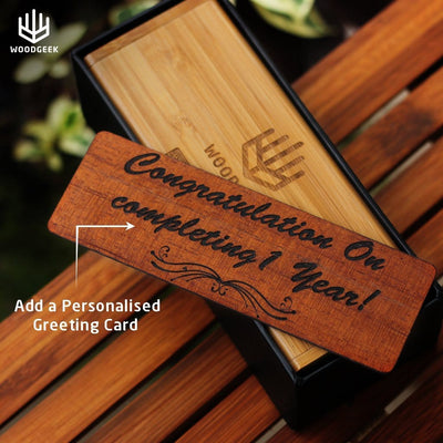 Wooden Sunglasses Personalized With A Birthday Message