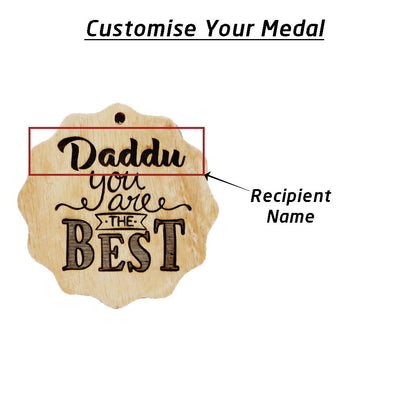 You Are The Best Wooden Medal