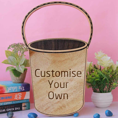 Wooden Bucket Shaped Award & Trophy. Customise Your Own Wooden Trophies & Awards. Create Your Own Custom Trophies. Make Your Own Wooden Awards, Best Employee Award or Other Employee Appreciation Awards, Funny Awards and Trophies.