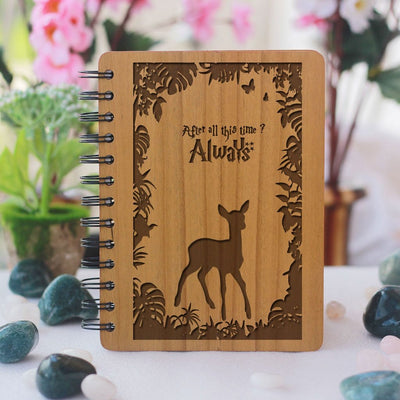 Harry Potter Notebook - Don't Let The Muggles Get You Down - Gifts for Potterheads - Bamboo Wood Notebook