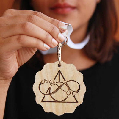 Harry Potter: Always Wooden Medal With Ribbon - This Engraved Medal Is The Best Gift For Harry Potter Fans - This Custom Medal Makes One Of The Best Harry Potter Gifts.
