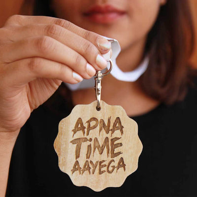 Apna Time Ayega Wooden Medal. These Medals And Trophies Make The Best Motivational Gift Ideas For Loved Ones. Looking For More Inspirational Gifts? Order Medals Online From Woodgeek Store