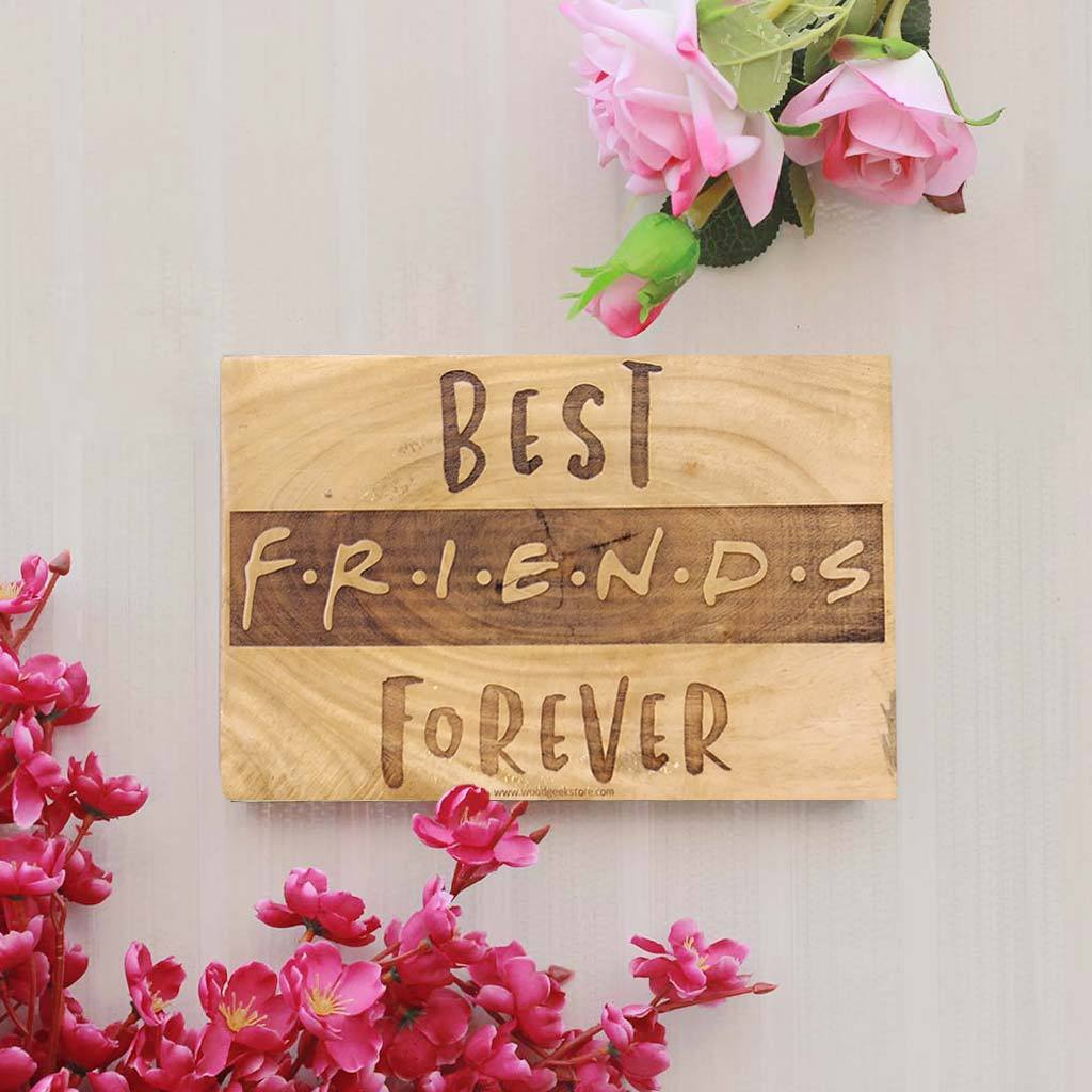 Best Friends Forever Engraved Wood Sign