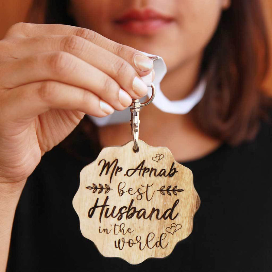 Best Husband In The World Wooden Medal. This is the best anniversary gift for husband. This medal award makes the most romantic gifts for him.