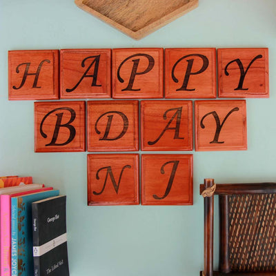 Shop Crossword Blocks For Wall Decor Online. Wooden Scrabble Tiles As Personalised Gift For Birthday.