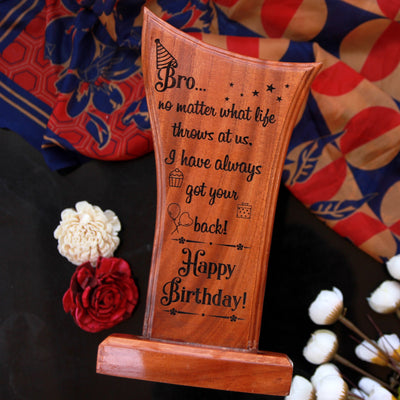 This Wooden Plaque Engraved With A Birthday Message Is The Best Birthday Gift For Brother. Looking for gifts for brother? This Birthday Greetings Engraved On This Wooden Award Plaque Is A Great Personalized Gift.
