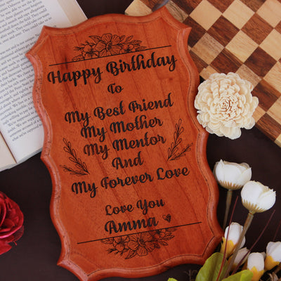 Birthday Wishes Engraved on A Wooden Plaque makes best birthday gifts for mom. A gift for mother carved on a custom wood sign. Looking for gifts for mom? This Personalised Gift Is Perfect!