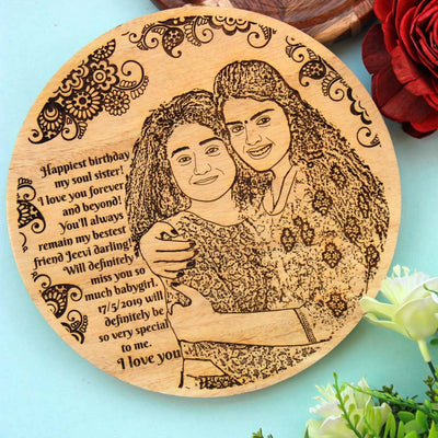 This Wood Engraved Photo with A Birthday Message Is The Best Birthday Gift For Sister. Looking for gifts for sister? This Photo On Wood Is A Great Photo Gift.
