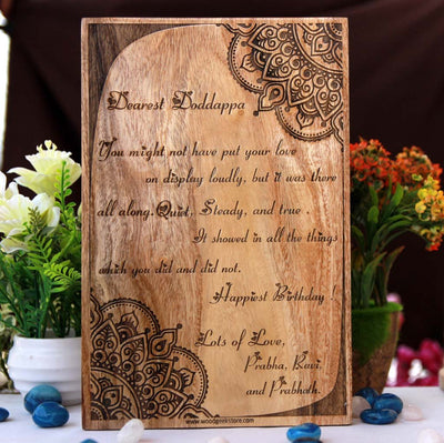 Personalised Letter To Best Friend Engraved On Wood