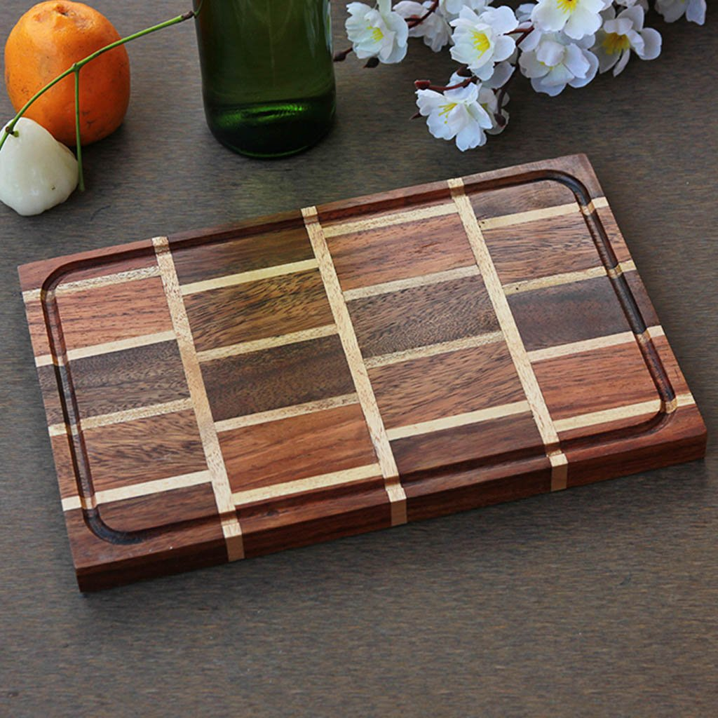 Brick Pattern Wooden Chopping Board - Wood Cutting Boards - Wood Chopping Block - Butcher Block Wood - Kitchen Cutting Board - Brick Pattern Chopping Board - Best Chopping Board - Hardwood Cutting Boards - Woodgeek Store